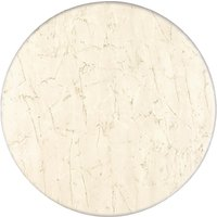Image of Werzalit Pre-drilled Round Table Top Marble Bianco 600mm