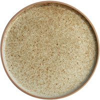 Image of Olympia Canvas Flat Round Plate Wheat 180mm (Pack of 6) Pack of 6