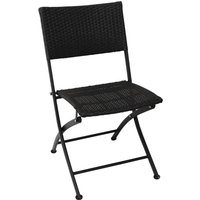 Image of Bolero PE Wicker Folding Chair Set (Pack of 2) Pack of 2