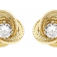 Jewellery Essentials Cubic Zirconia Knot Earrings JEWEL AJ-15040178