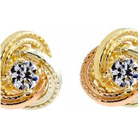 Jewellery Essentials Cubic Zirconia Knot Stud Earrings JEWEL AJ-15043627