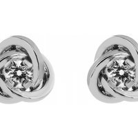 Jewellery Essentials Cubic Zirconia Knot Earrings JEWEL AJ-15047012