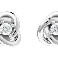 Jewellery Essentials Cubic Zirconia Knot Stud Earrings JEWEL AJ-37230889